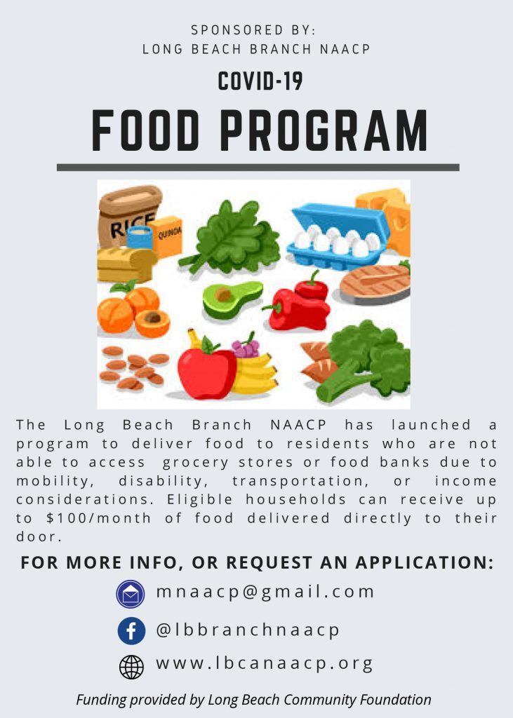 Sponsored by Long Beach NAACP COVID-19 Food Program